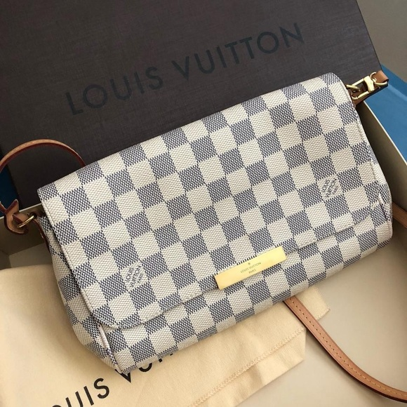 c53eefd4b25 Louis Vuitton Bags | Favorite Mm White And Blue Cross Body Bag ...